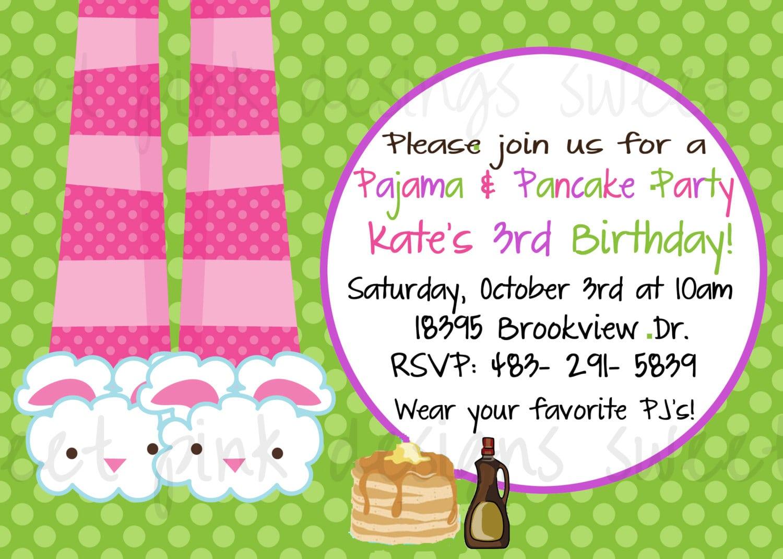 Pancakes And Pajama's Party