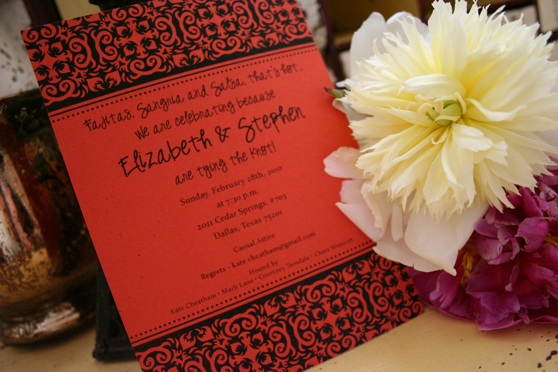 Party Invitation   Bridal Shower   Annoucement Spanish Tile