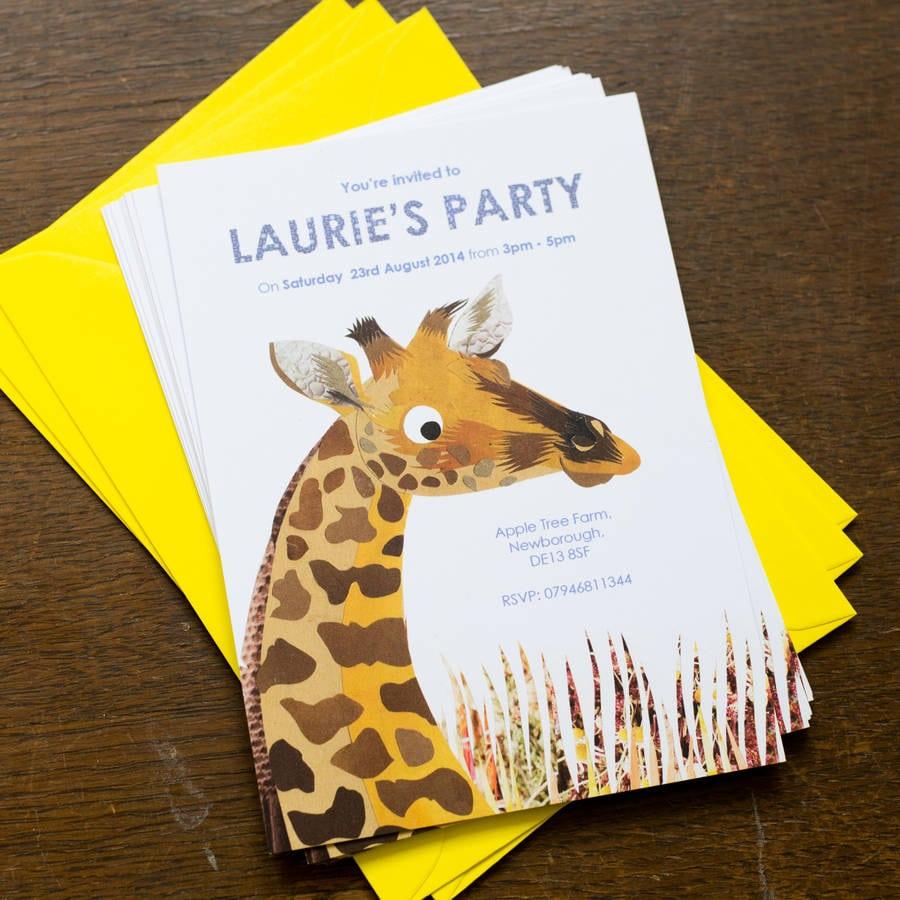 Giraffe Party Invitations | southernsoulblog.com