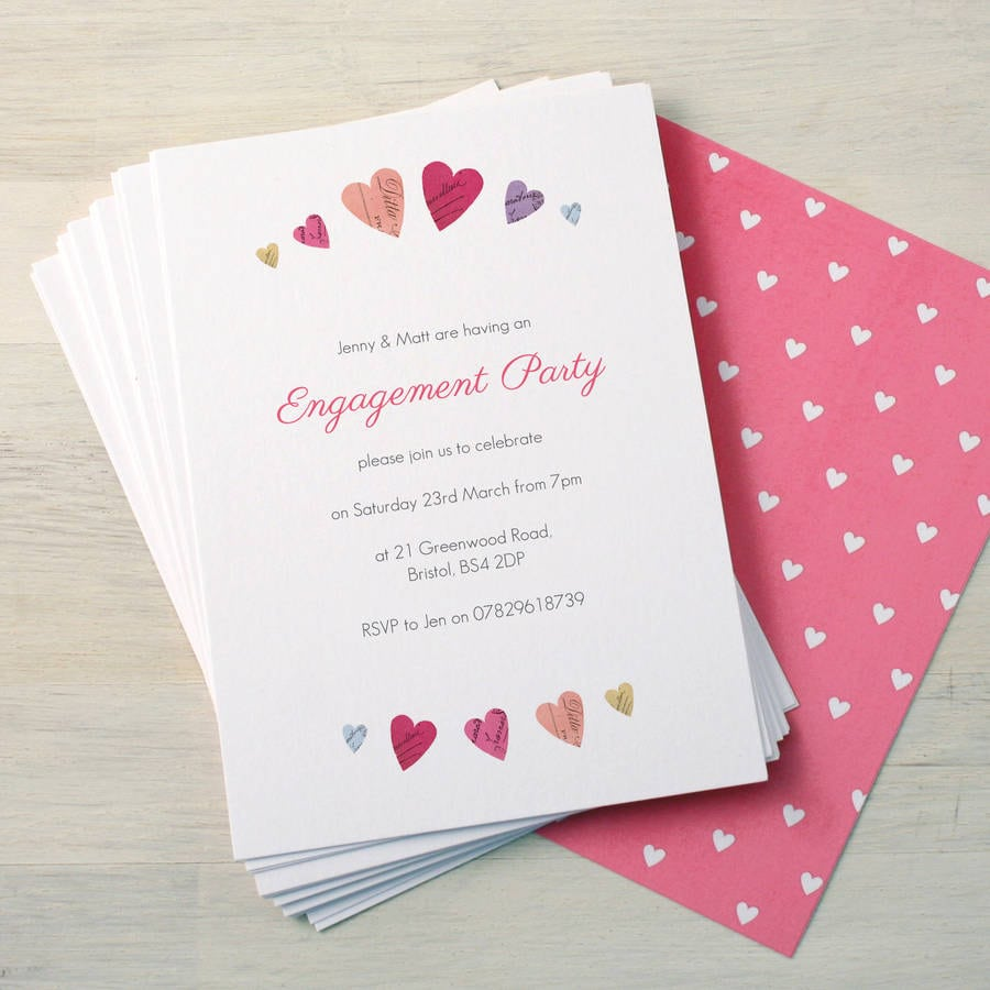 Engagement Housewarming Party Invitations – Personalised Engagement Party Invitations