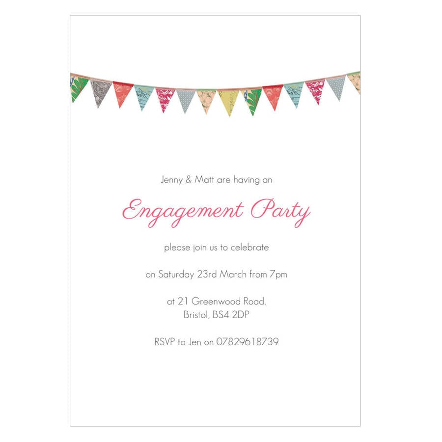 Personalised Engagement Party Invitations By Made By Ellis