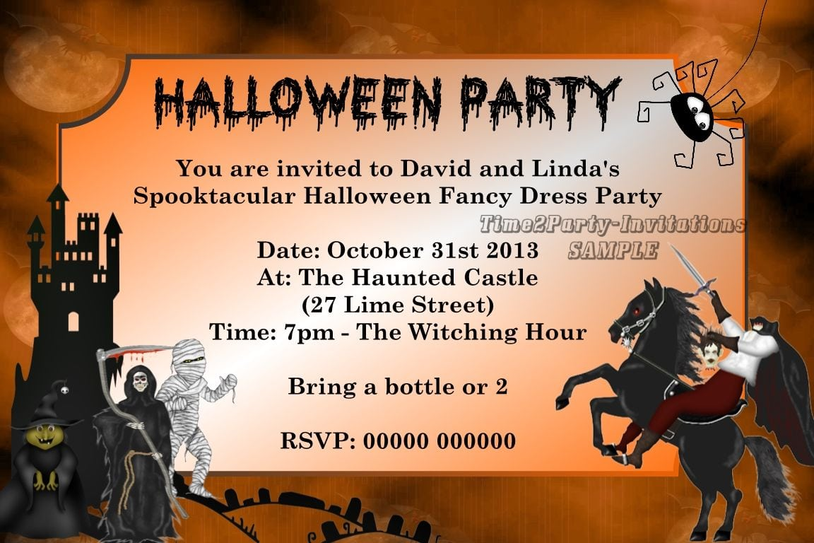 Fancy dress party invitations mickey mouse invitations templates personalised halloween fancy dress party invitations hal des 4 stopboris Images