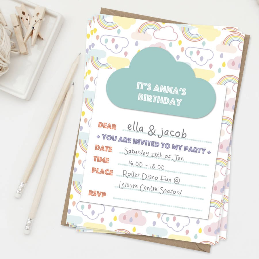 Personalised Kids Party Invitations - Mickey Mouse Invitations ...