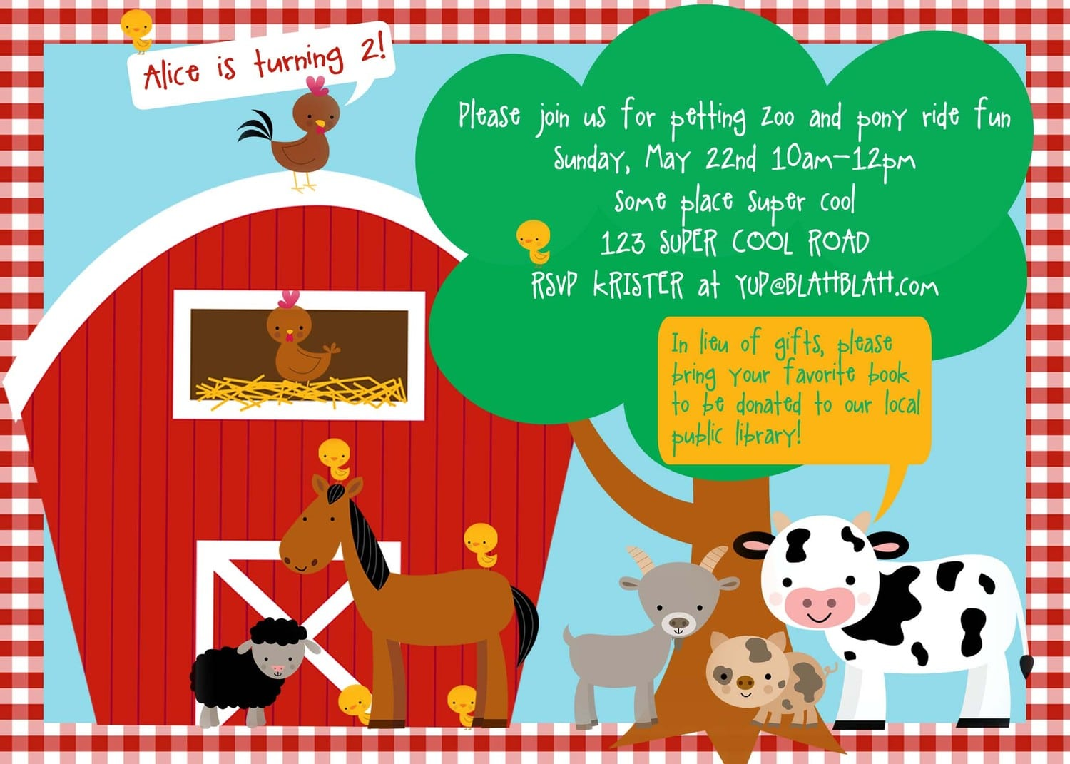 Farm theme party invitations mickey mouse invitations templates party invitations petting zoo farm birthday invitation diy by wickedcraftydesigns stopboris Images