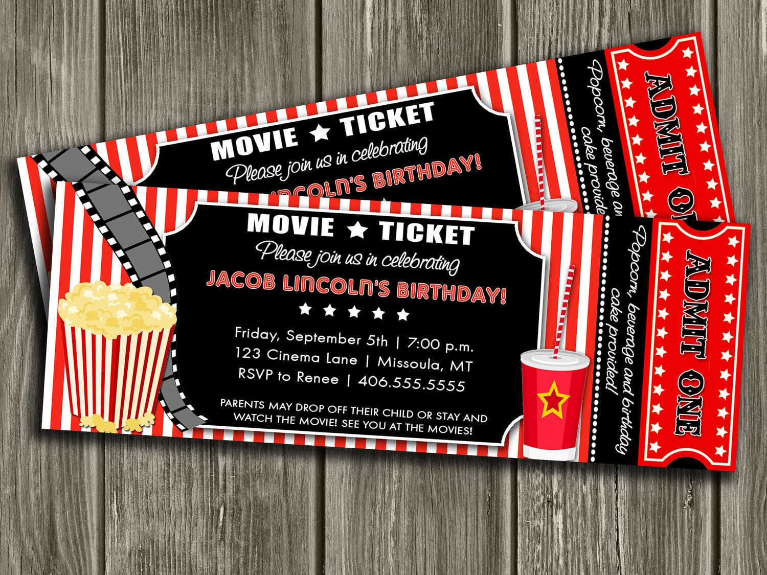 Movie Ticket Party Invitation Template - Mickey Mouse Invitations ...