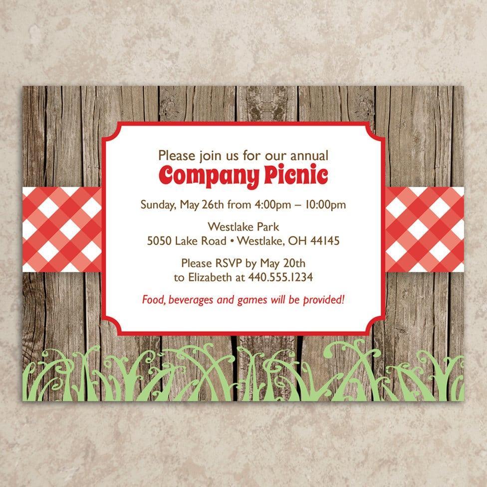 Picnic Invitation Diy Printable Jpeg Company Picnic
