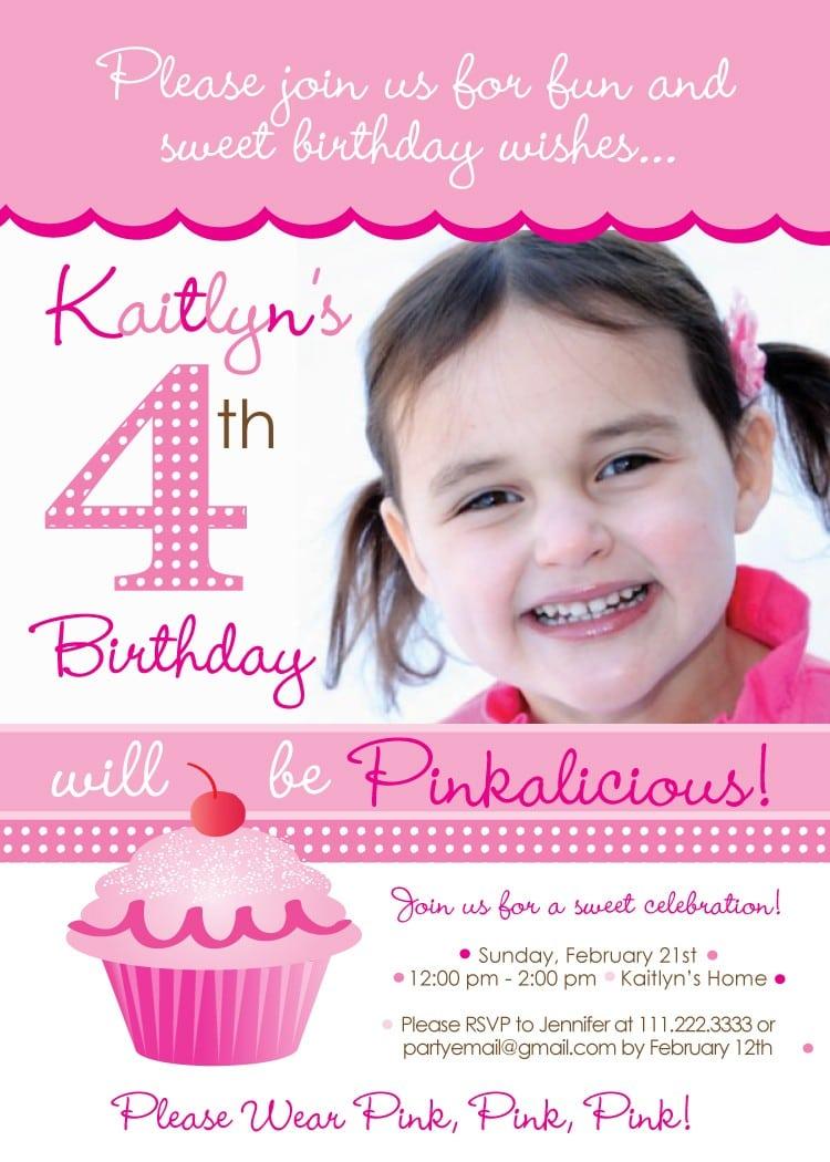 Pinkalicious Party Invitation