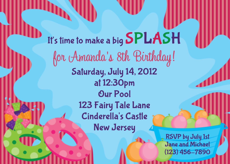 Stunning 8th Birthday Party Invitation Wording Gallery - Invitation ...
