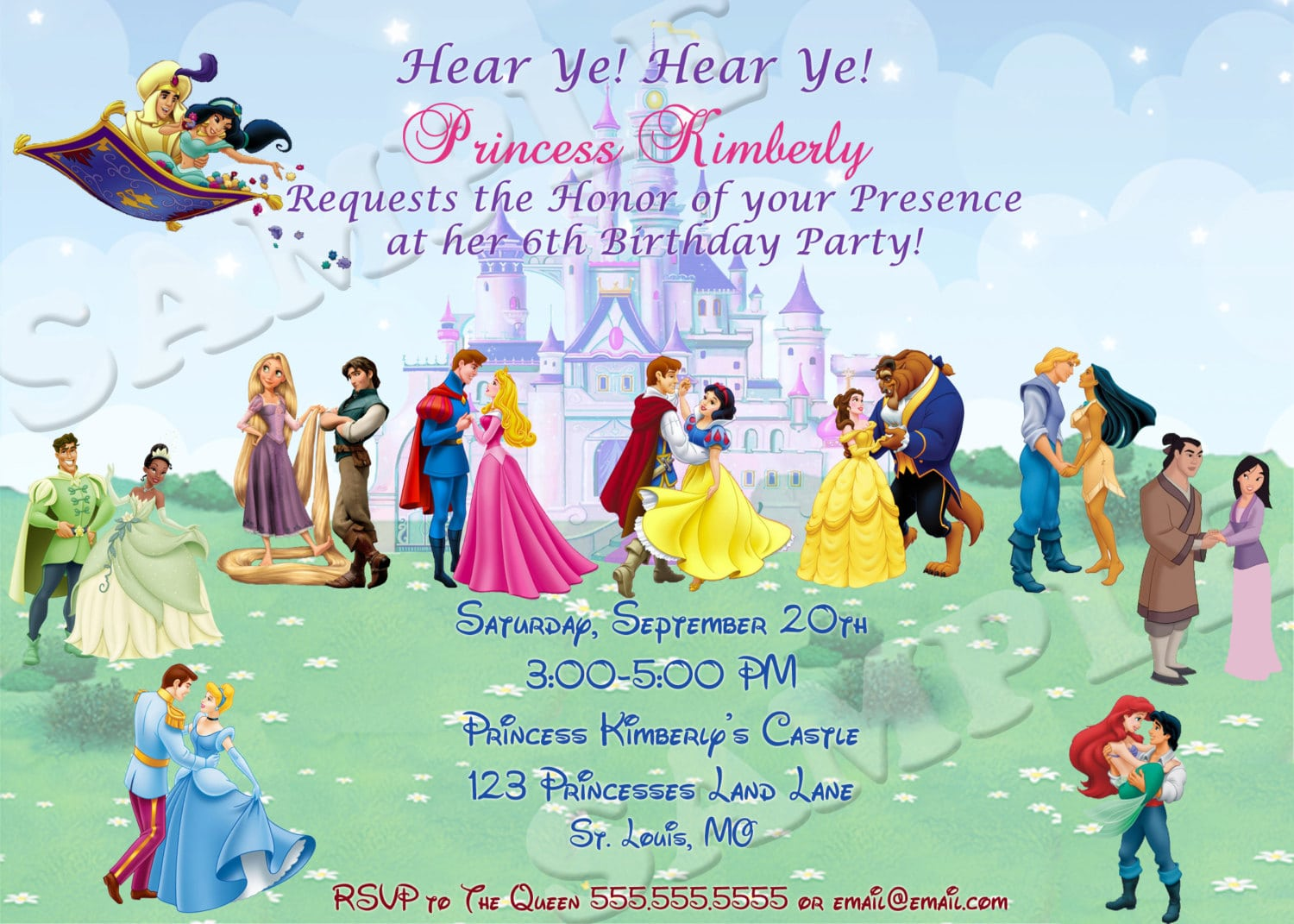 Awesome Prince And Princess Party Invitations Ideas - Invitation ...