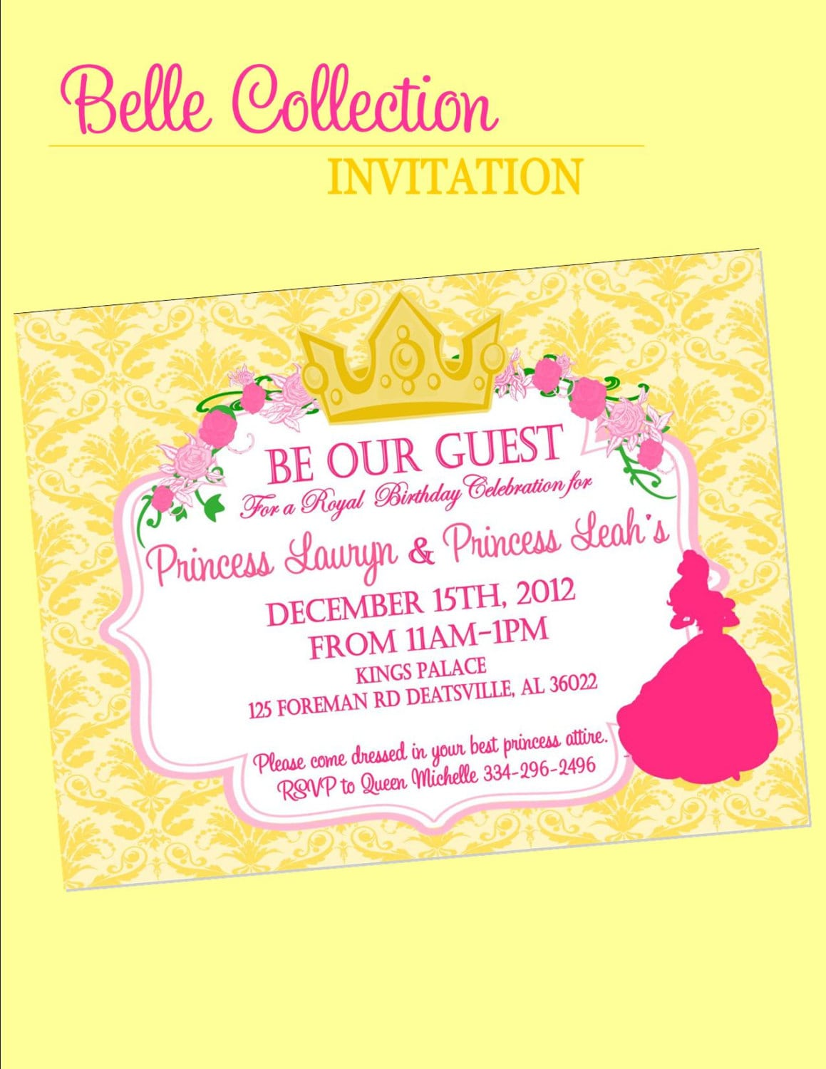 ... Princess Inspired Birthday, Baby Shower Or Wedding Shower Party ...