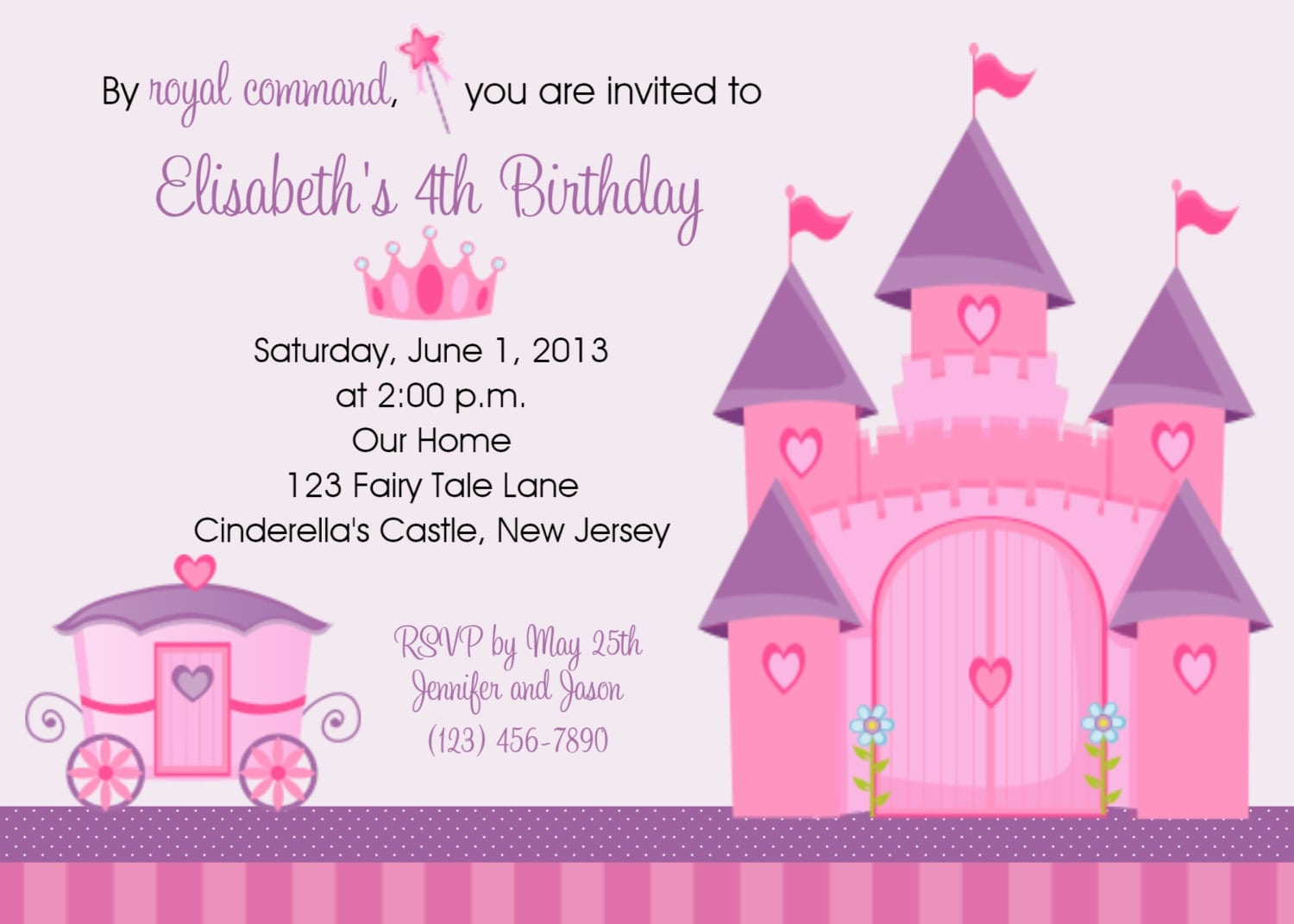 Princess Birthday Party Invitation Wording - Mickey Mouse ...