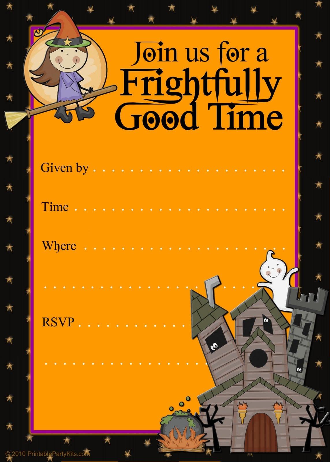 Printable Halloween Party Invitations Templates