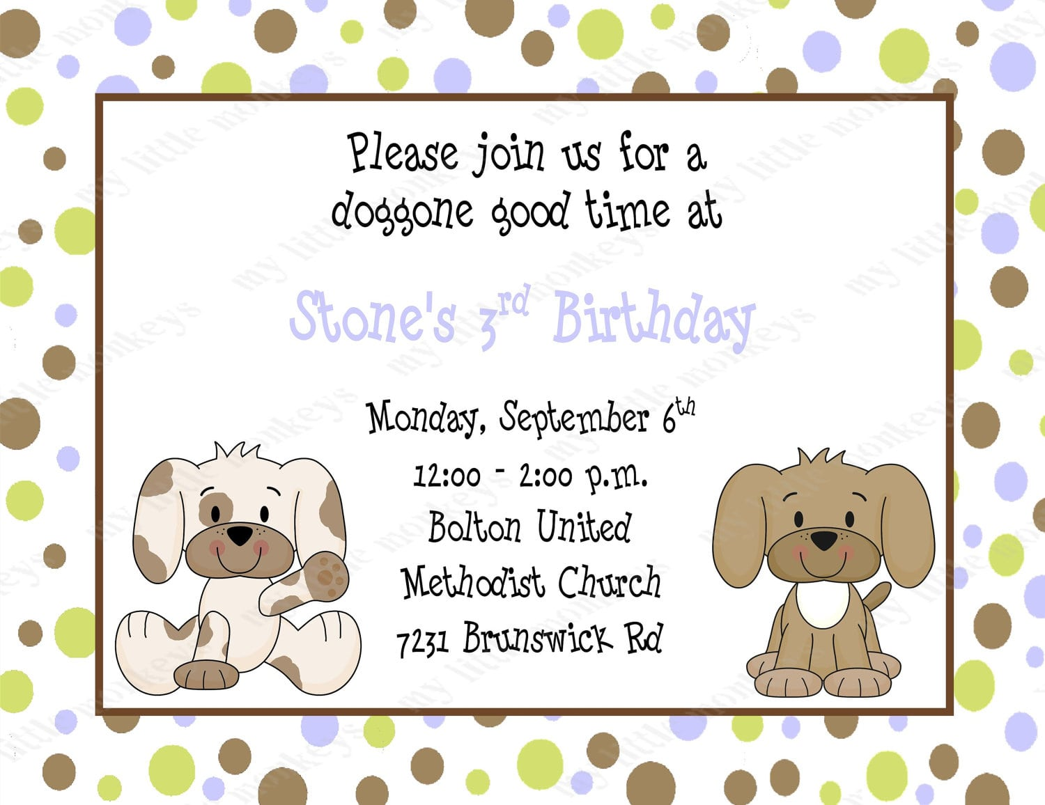Puppy Birthday Invitations   Ukrobstep Com