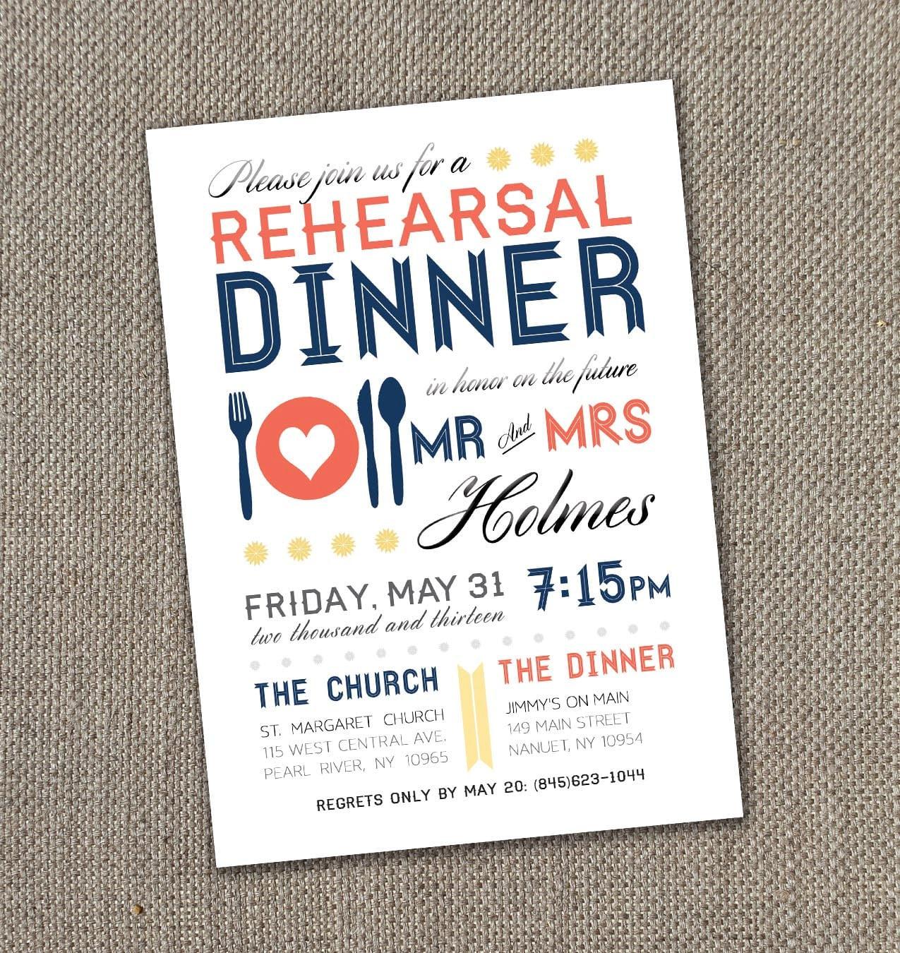 Rehearsal Dinner Invitations Etiquette