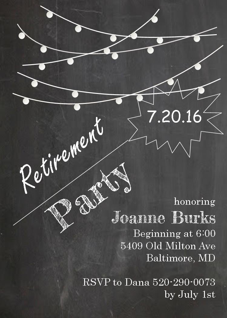 Retirement Party Invitation Clipart