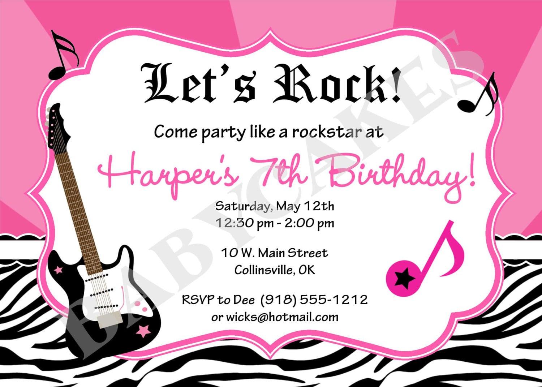 Rock star birthday party invitations mickey mouse invitations rock star birthday party invitations stopboris Images