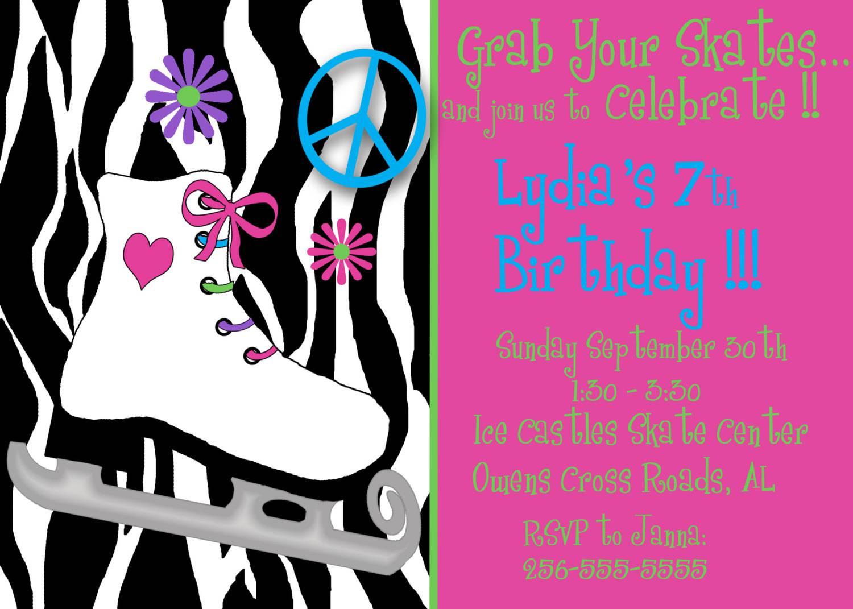 Roller Skating Birthday Party Invitations Free Printable