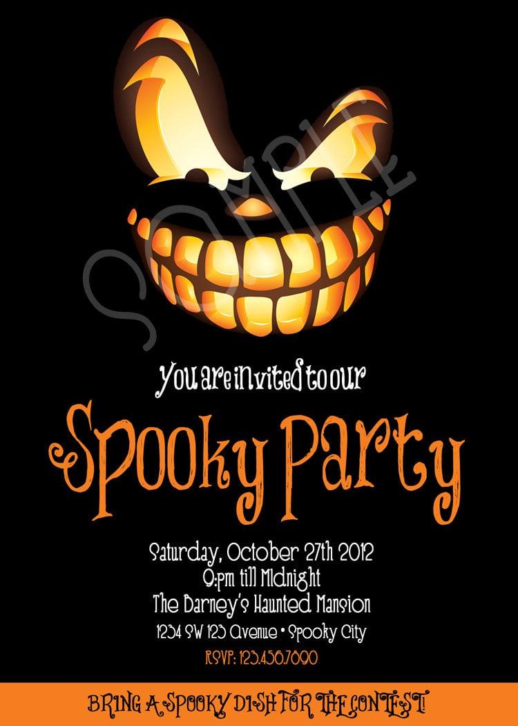 Scary Halloween Party Invitations - Mickey Mouse Invitations Templates