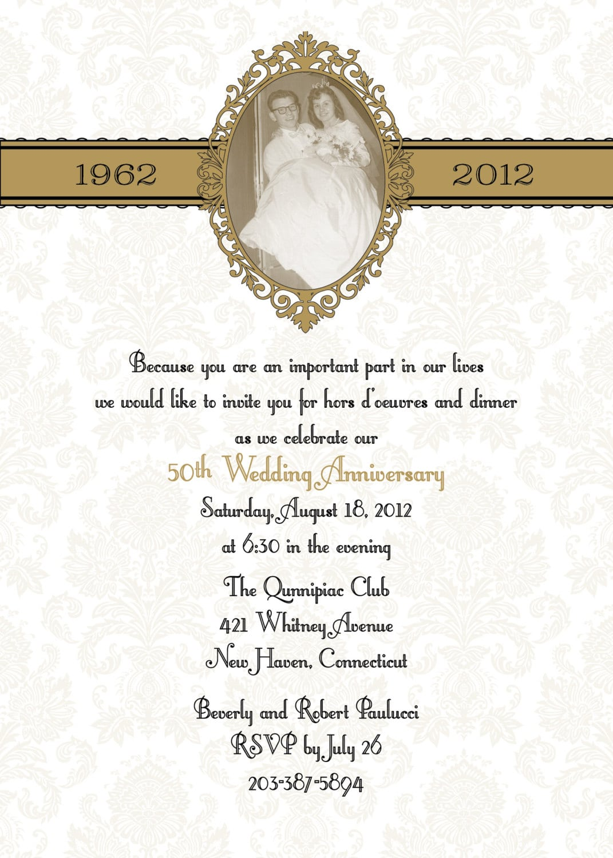 Silver Wedding Anniversary Party Invitations