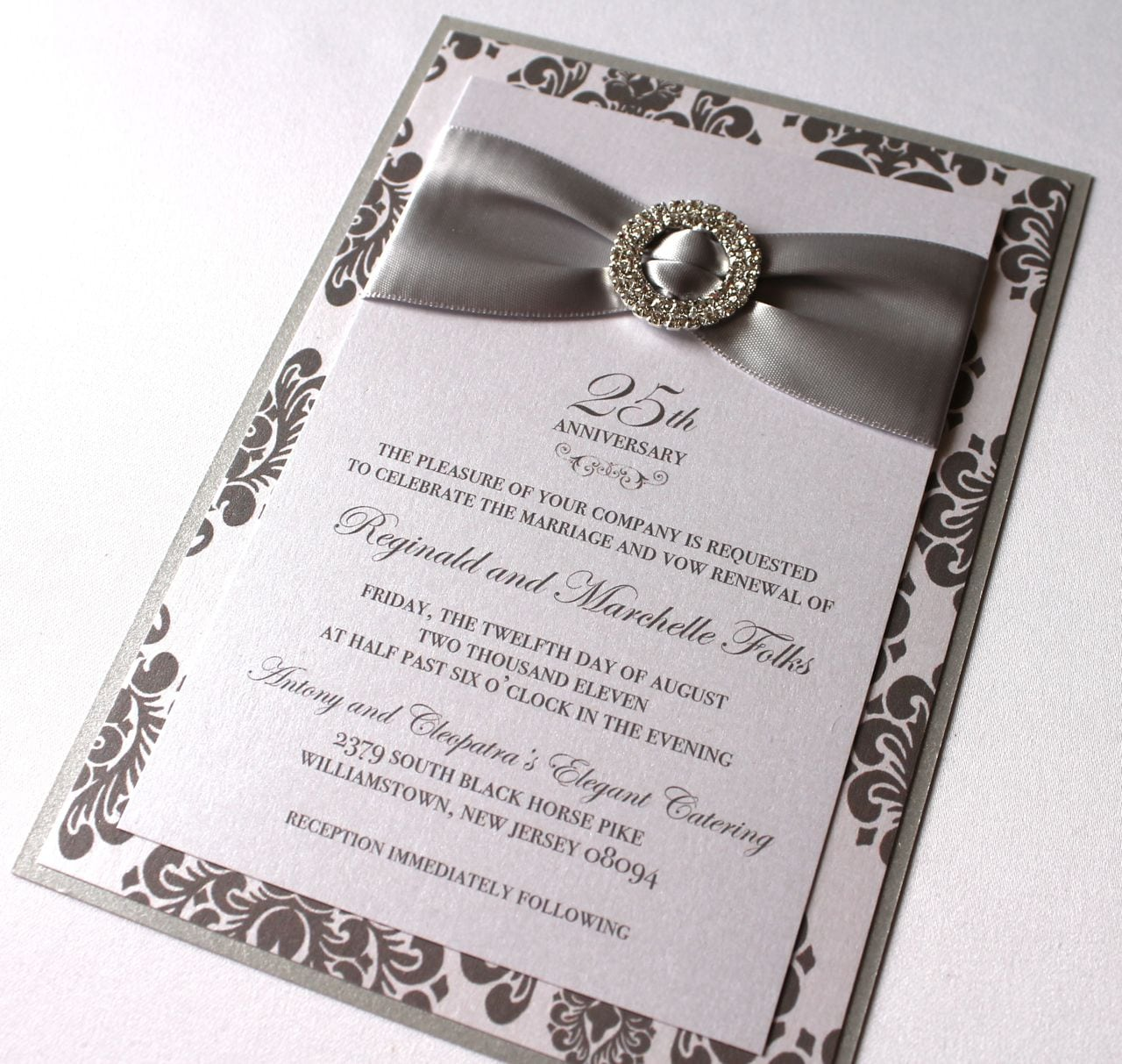 Silver Wedding Anniversary Stationery