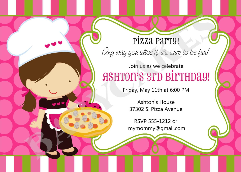 Similiar Pizza Birthday Invitations Keywords