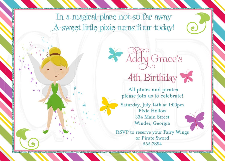 invitation templates. fairy party invitation wording. fairy ...