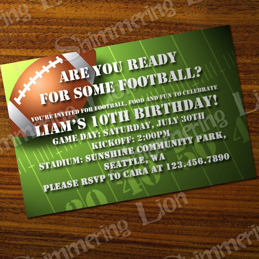 Free Printable Super Bowl Party Invitation Template Life Style By