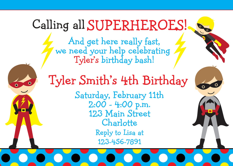 Superhero party invitation wording mickey mouse invitations templates superhero party invitation wording stopboris Gallery