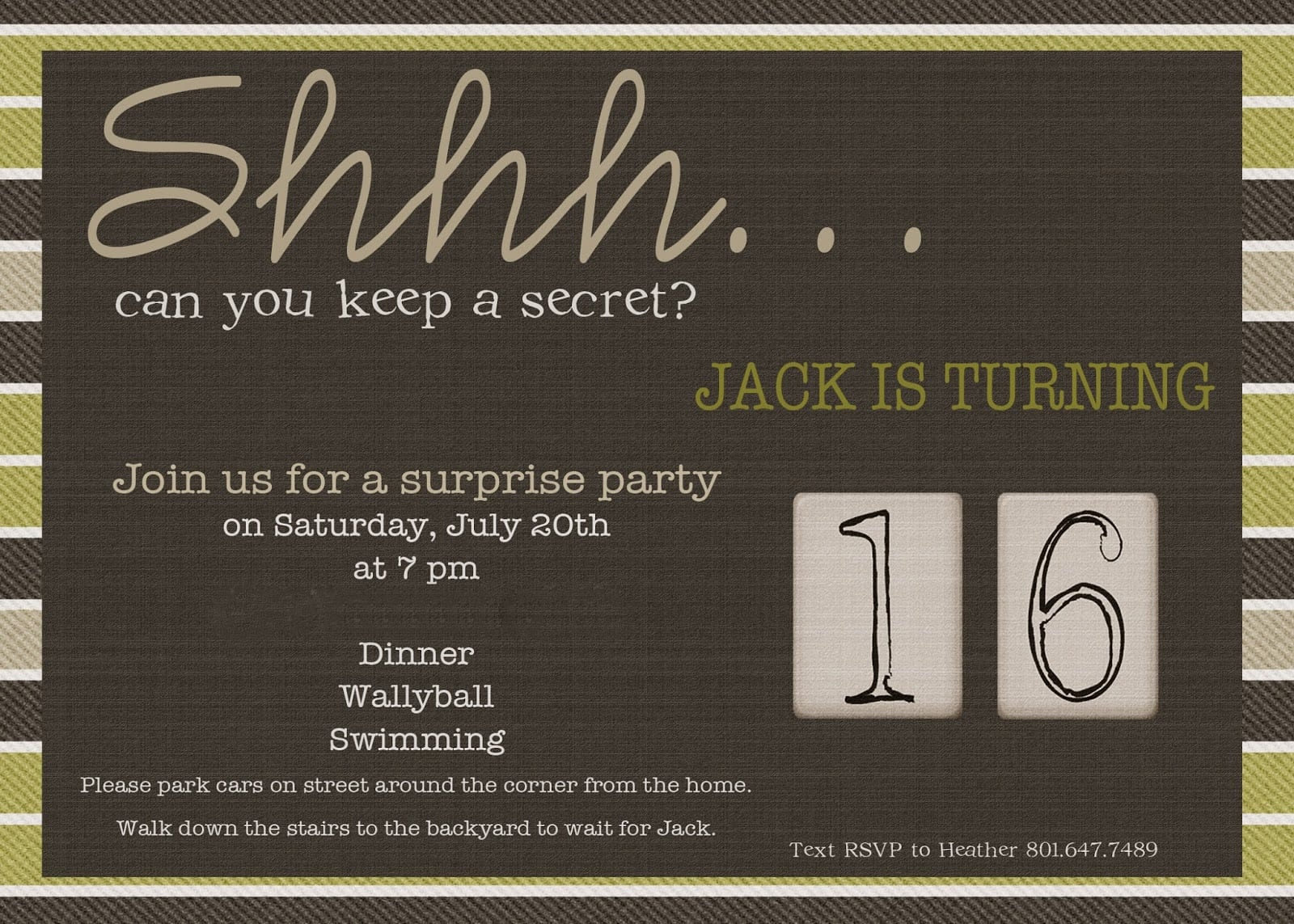 Surprise 30th Birthday Party Invitations For Him