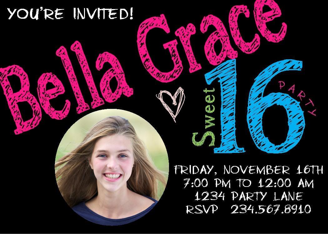 Teen Party Invitation Templates