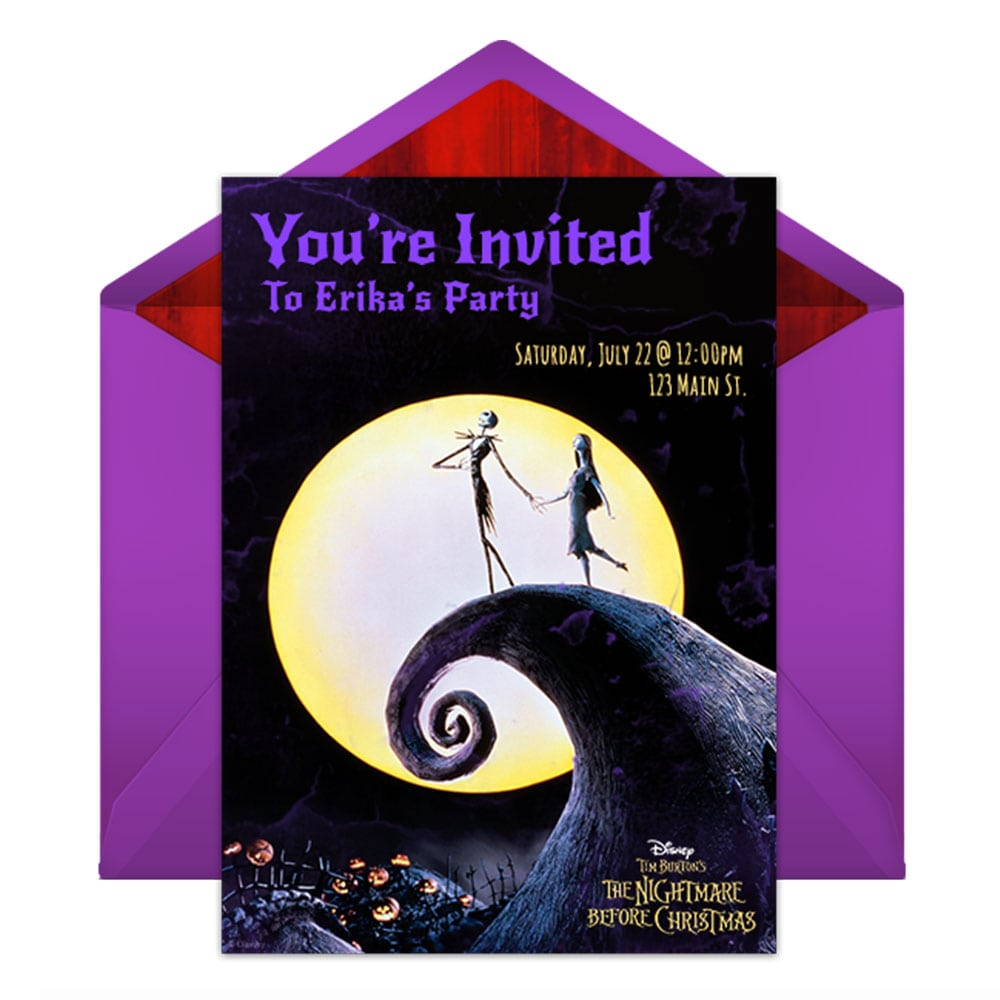 Nightmare Before Christmas Party Invitations - Mickey Mouse Invitations Templates