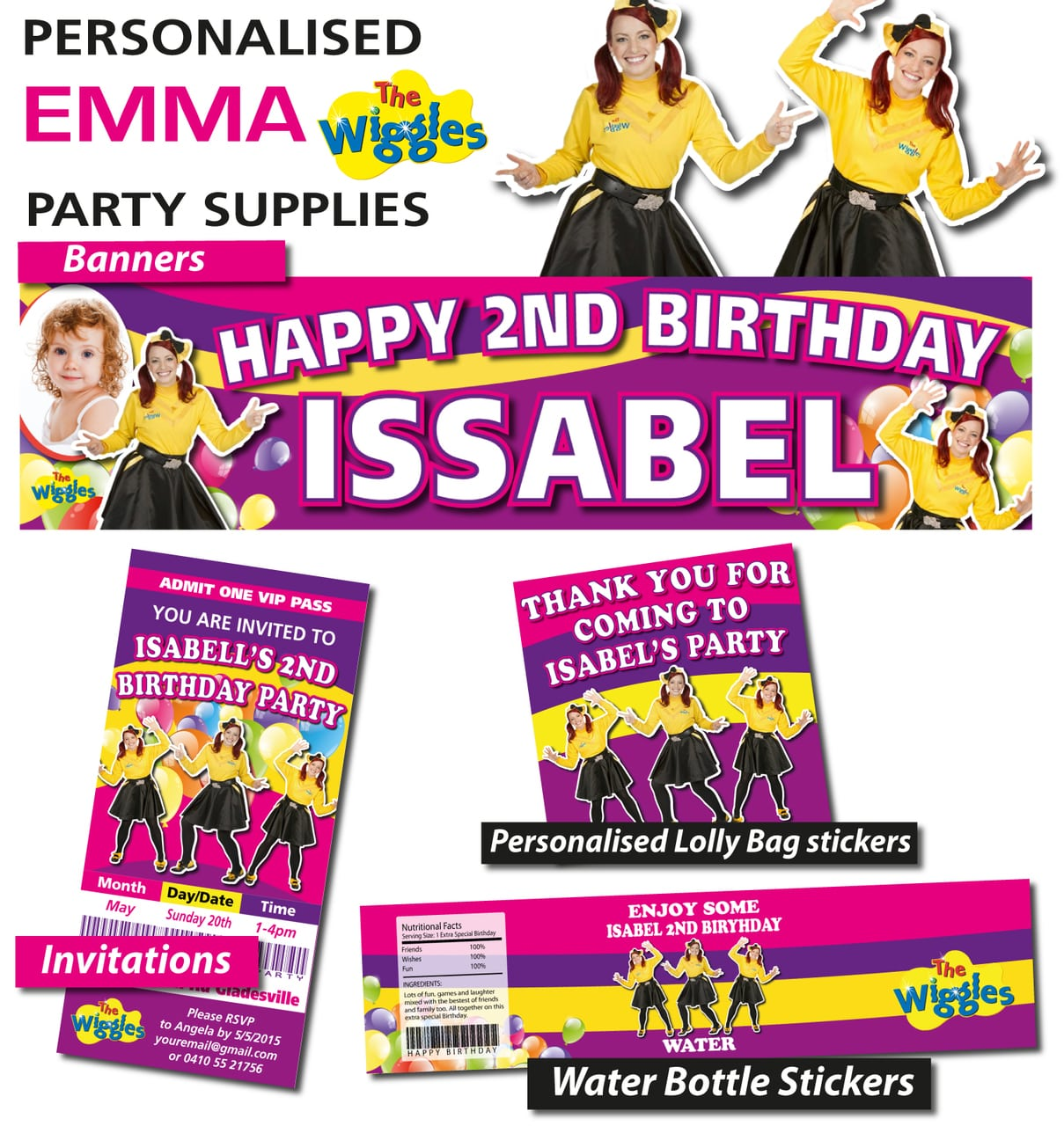 The Wiggles Birthday Party Invitation
