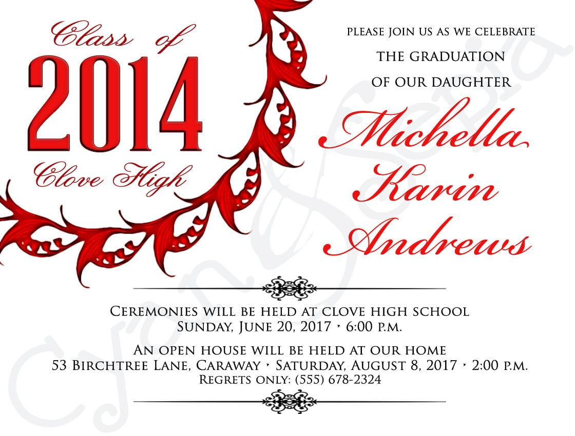 Themes Inexpensive Masters Degree Graduation Announcement Template