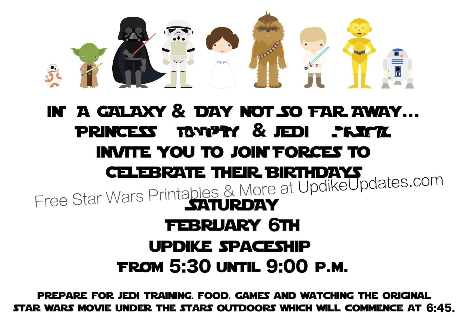 Star Wars Party Invitations Printable - Mickey Mouse Invitations ...