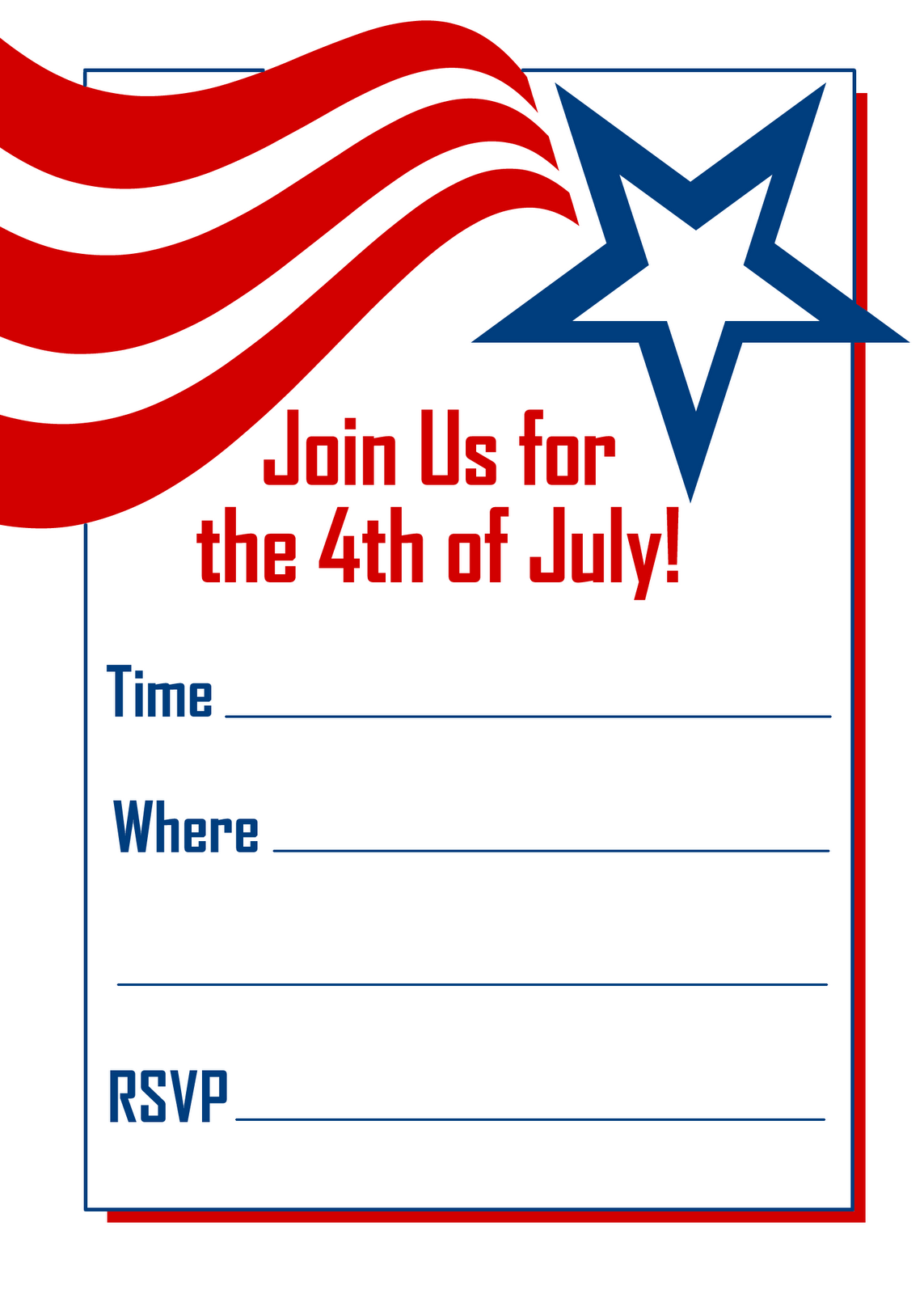 Watch More Like Fourth Of July Invitation Template