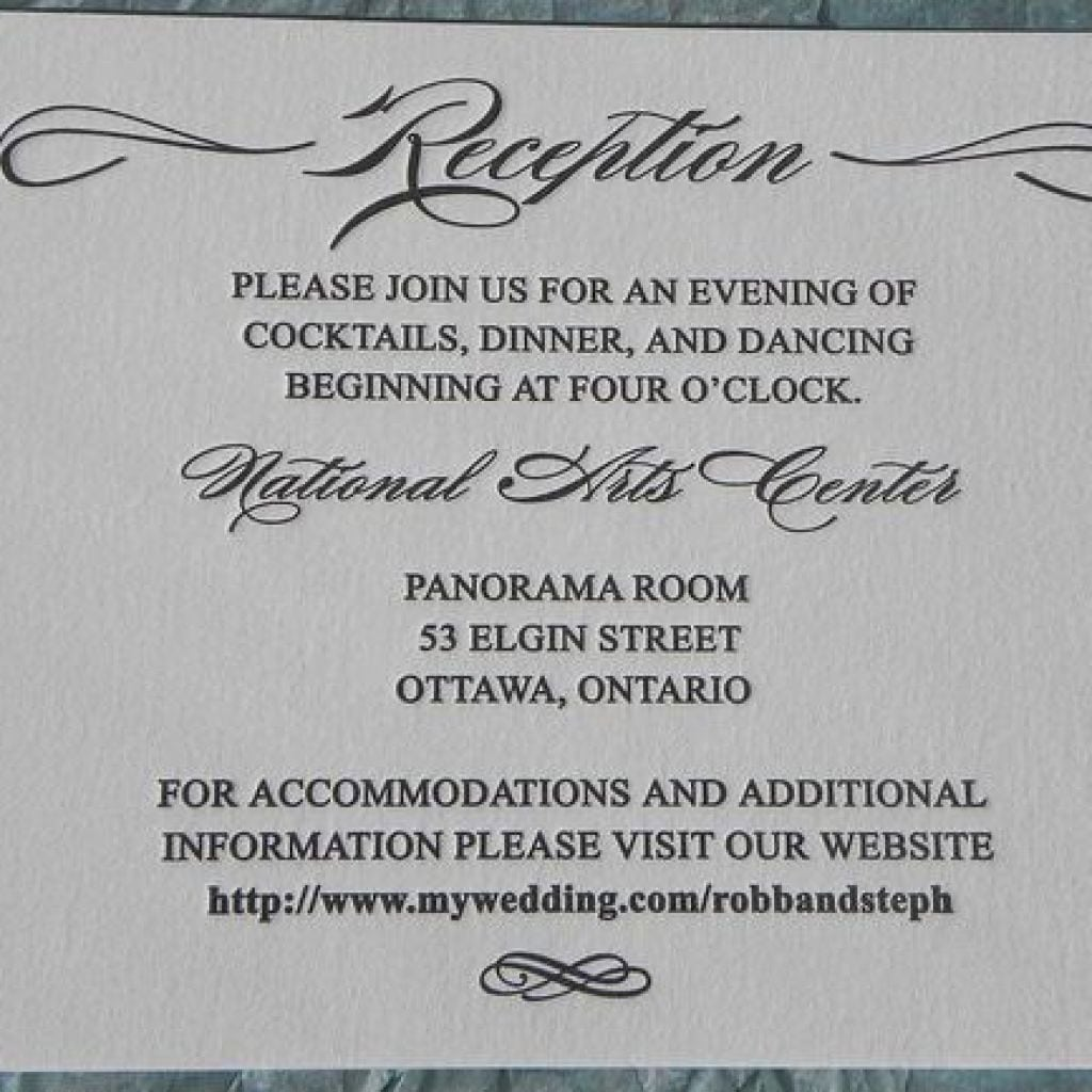 Wedding Cocktail Party Invitations
