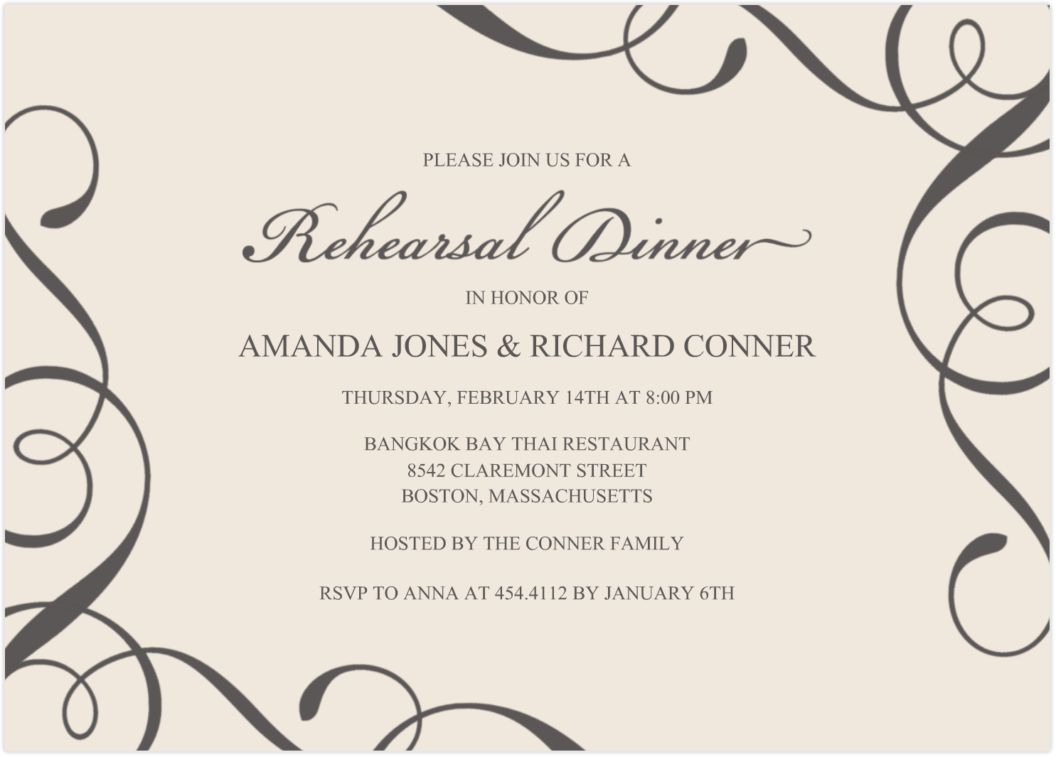 What To Keep In Mind When You Create Your Rehearsal Dinner Invitations