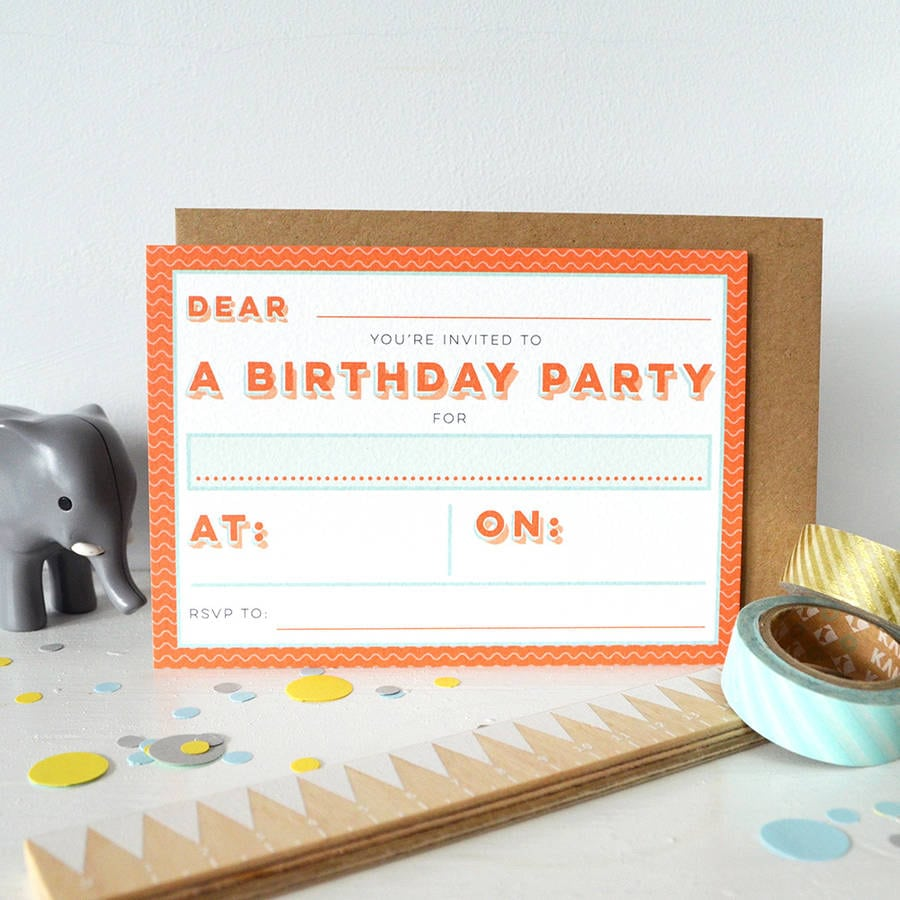 Wiggle Party Invitation Set By Paper Arrow Press