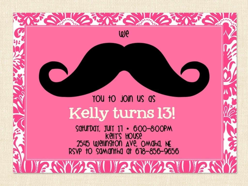 13th Birthday Invitation Ideas 13 Birthday Invitations 13th