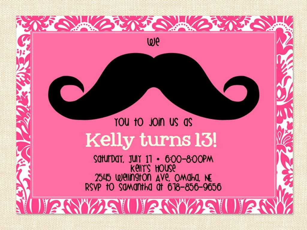 13th Birthday Party Invitation Ideas – Bagvania Free Printable
