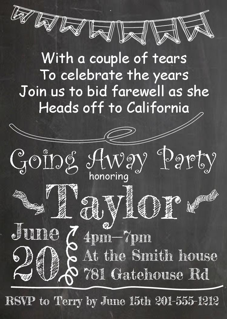 25+ Best Ideas About Farewell Invitation On Pinterest