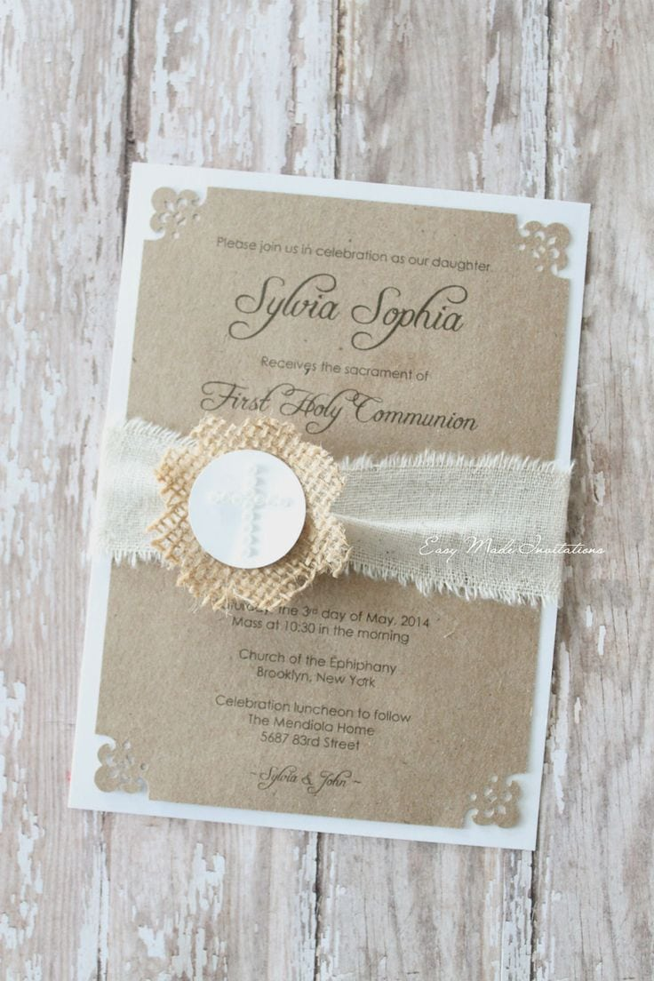 25+ Best Ideas About First Communion Invitations On Pinterest