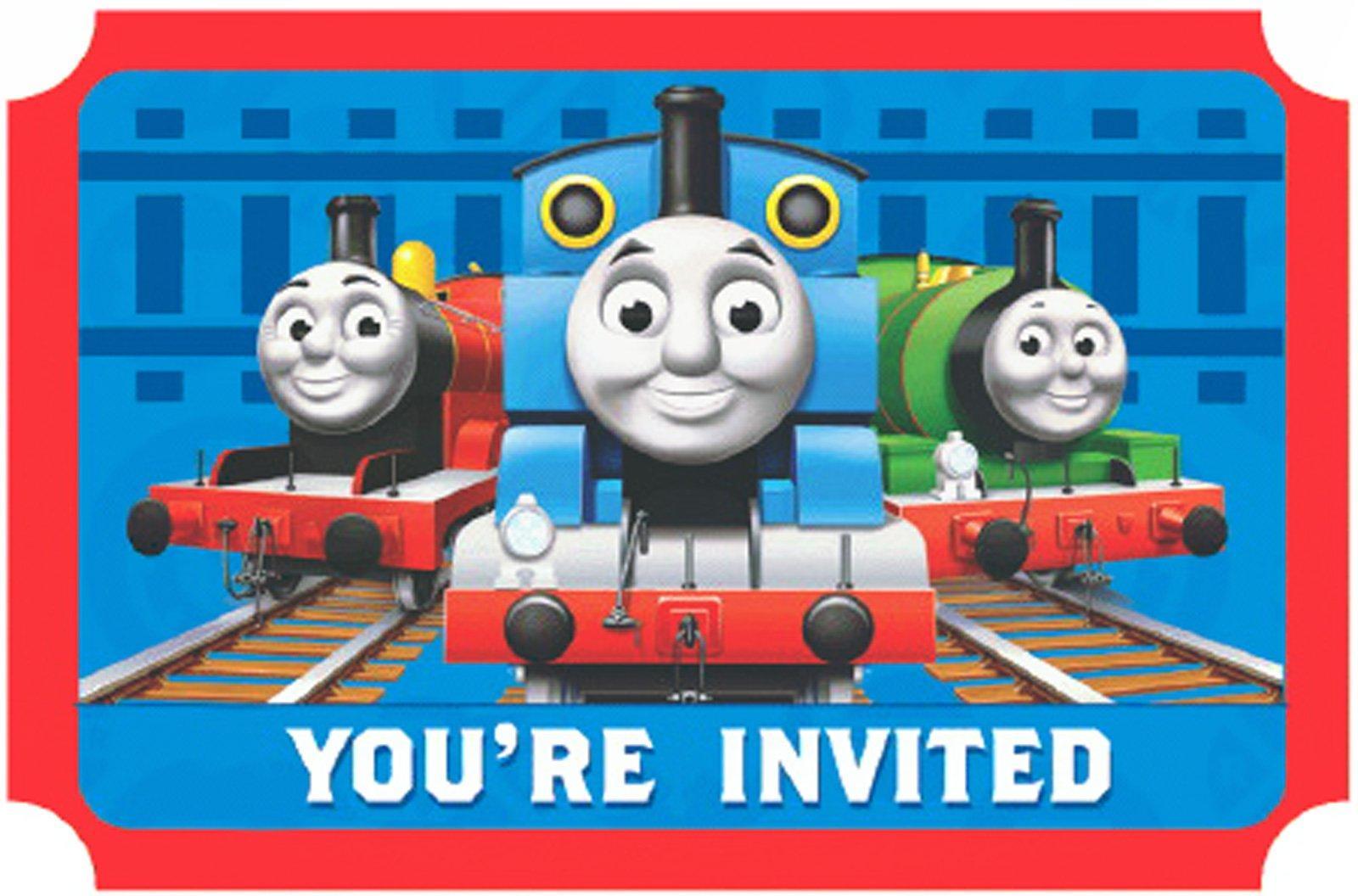 Charming Thomas And Friends Birthday Invitation Contemporary ...