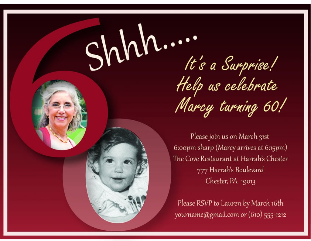 70th Surprise Birthday Party Invitations Related Keywords
