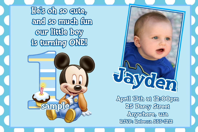Baby Boy 1st Birthday Party Invitations   Ukrobstep Com