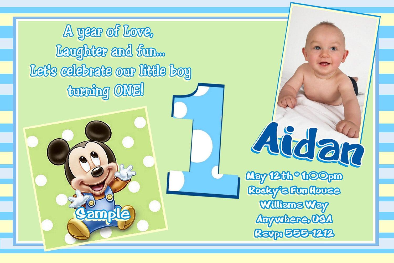 Baby Boy 1st Birthday Party Invitations Perfect Baby Boy 1st