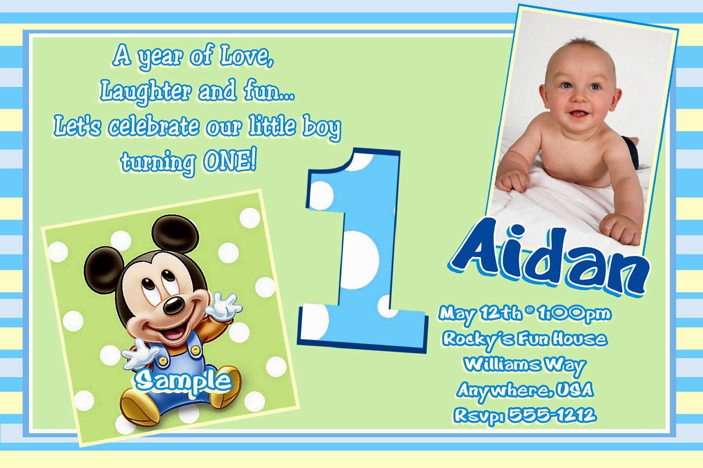 Baby Boy Birthday Invitation