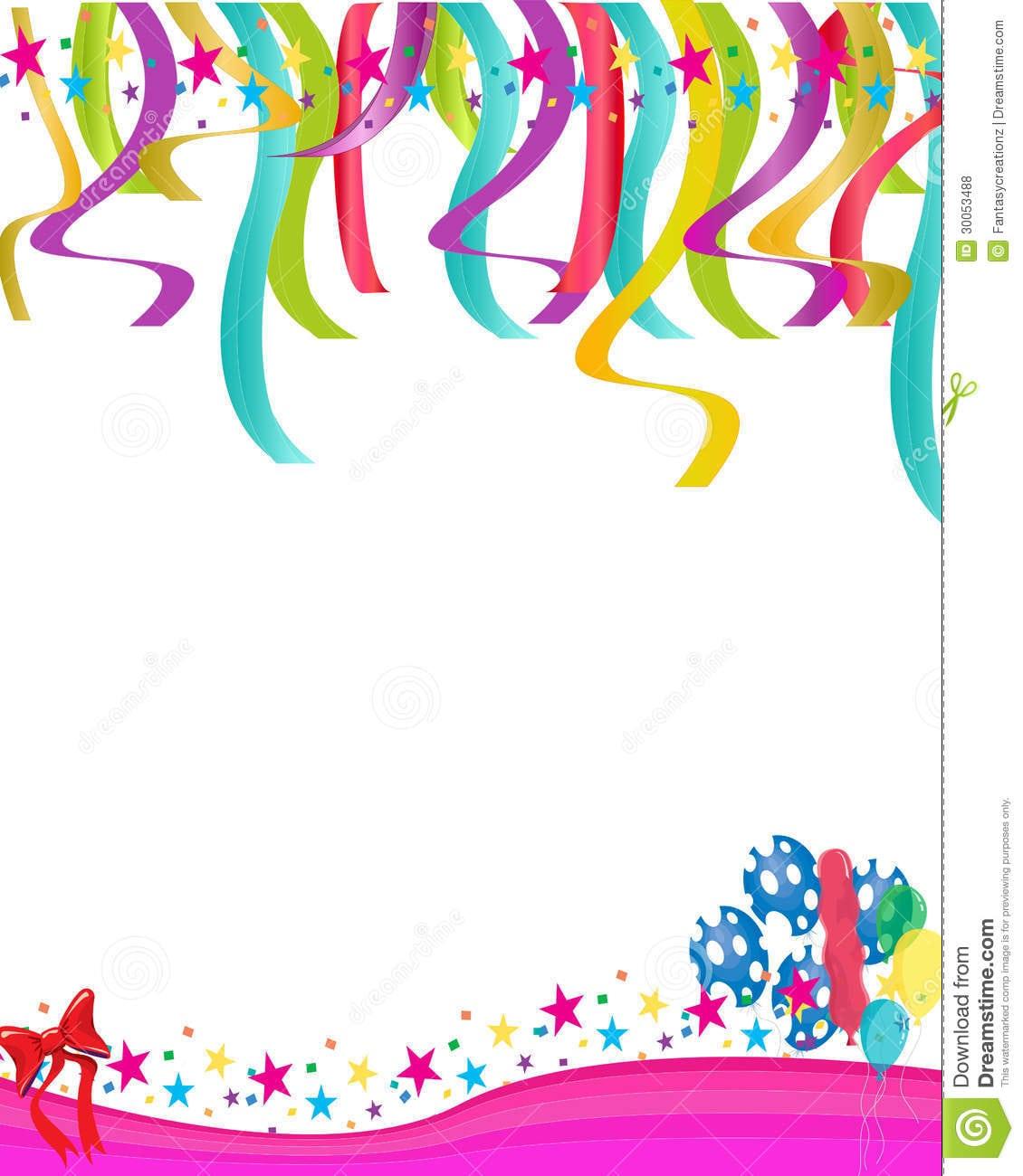 Birthday Card Invitation Template – Gangcraft Net