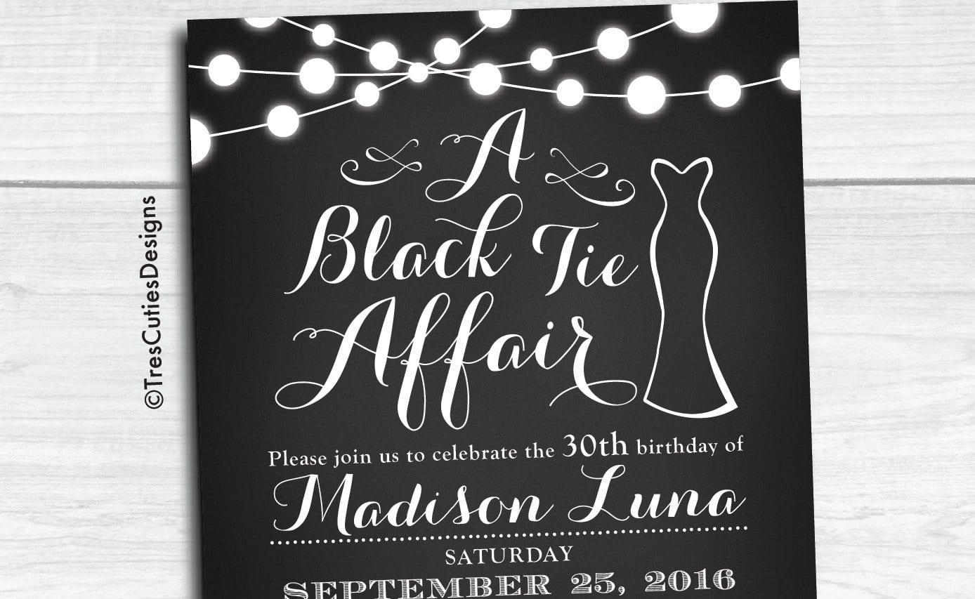 Black Tie Invitation Black Tie Affair Invitations Black