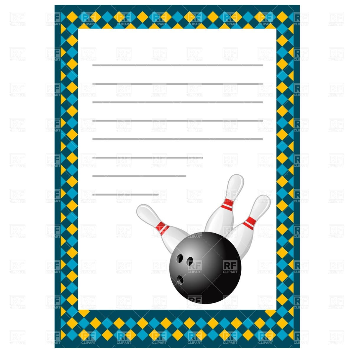 Bowling Party Invitation Template – Gangcraft Net